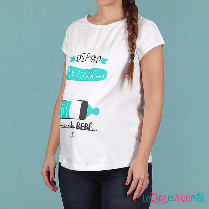 e79a1ca7a Camiseta Bonita Y Divertida Para Embarazada Con Mensaje Gracioso