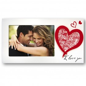 "MARCO FOTOS PERSONALIZADO CON FOTO ""I LOVE YOU"" - HORIZONTAL"