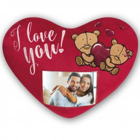 "COJÍN PERSONALIZADO CON FOTO ""I LOVE YOU"""