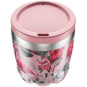 VASO ACERO INOXIDABLE CON TAPA CHILLY'S 230ML - FLAMINGO