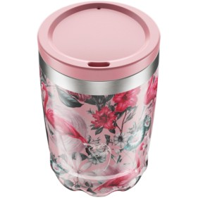 VASO ACERO INOXIDABLE CON TAPA CHILLY'S 340ML - FLAMINGO