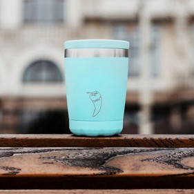 VASO ACERO INOXIDABLE CON TAPA CHILLY'S 340ML - MINT