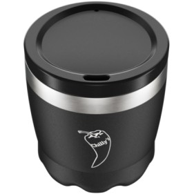 VASO ACERO INOXIDABLE CON TAPA CHILLY'S 230ML - NEGRO