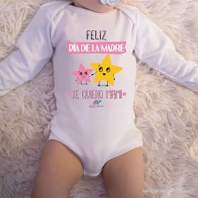 """BODY C/ AMERICANO  """"FELIZ DÍA DE LA MADRE"""" M/L - ROSA"""
