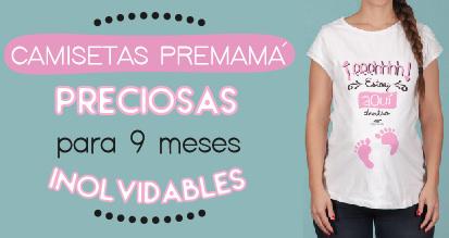 Camisetas premama personalizadas