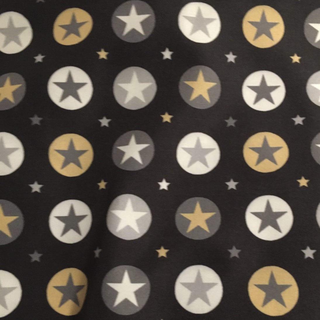 Estrellas círculos - Negro - 442