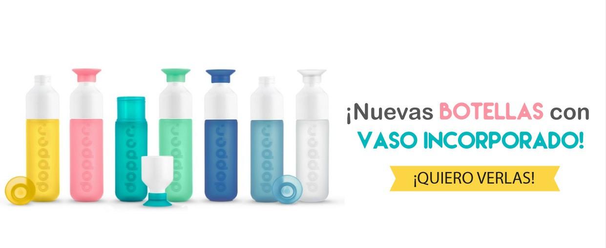 Nuevas botellas reutilizables con vaso, DOPPER