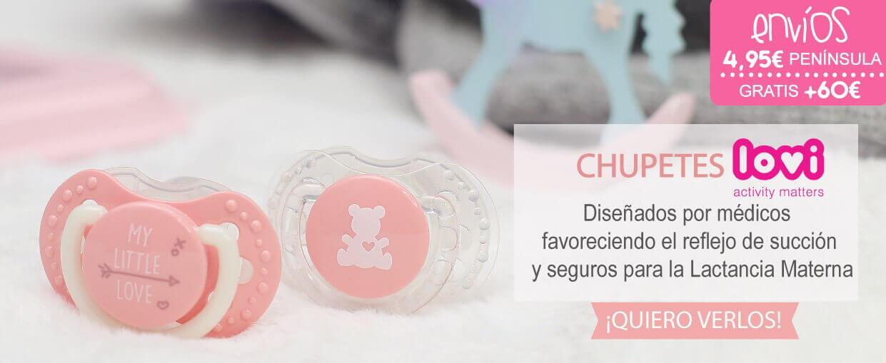 Chupetes LOVI diseñados por médicos favoreciendo el reflejo de succión y seguros para la LM